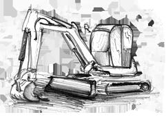 noleggio mini escavatori per demolizioni